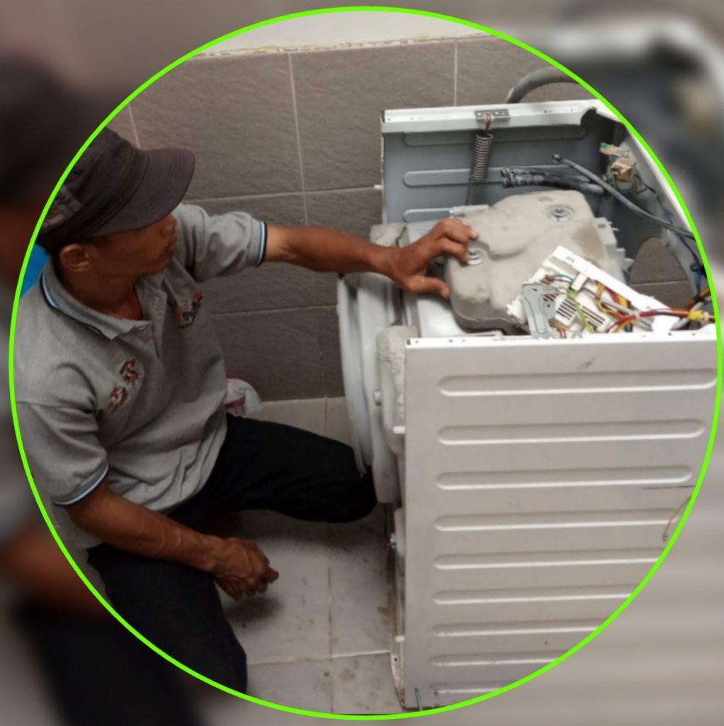 Service mesin cuci front loading bsd, bintaro, pamulang